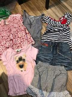 girl's six pieces size 110