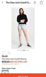 Ksubi clas-sick cut off denim short