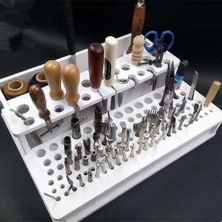 手工皮革工具架