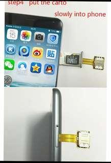 1PCX2 Nano Sim + 1 Micro Sim Card Adapter For  Smartphone