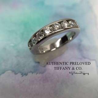ab1dfad9a Mint Tiffany & Co 0.81ct Diamond Channel Setting Platinum Ring PT950 50%  off Retail