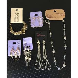 Earrings, Necklace, Bangle