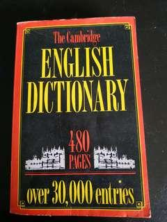 The Cambridge English dictionary 480 pages over 30,000 entries