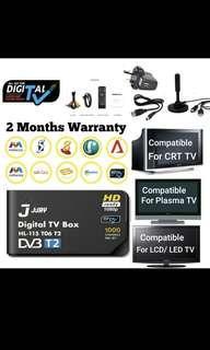 New! 2018 DVB-T2 Digital TV set up Box Singapore /Digital Antenna