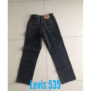 Levi's 535 dark washed denim jeans long pants