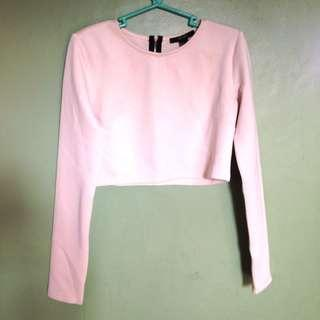 Long sleeve crop top by Forever21