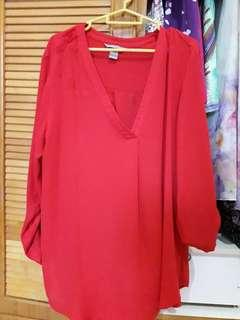 H&M Red blouse