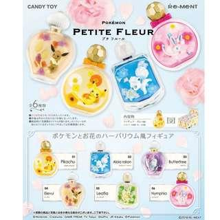 Re-ment 日本食玩 Pikachu Pokemon Petite Fleur 比卡超 寵物小精靈 細小的花花瓶 香水樽擺設 全套6款 (全新未折) Rement
