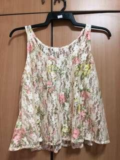 brand new lace floral top
