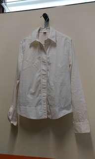 🚚 White Formal Button down Shirt