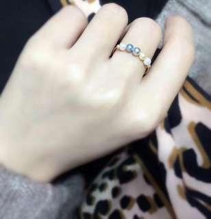 18k曰本真多麻戒指