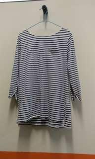 🚚 3 FOR $10 Striped Long Sleeve Crop Top