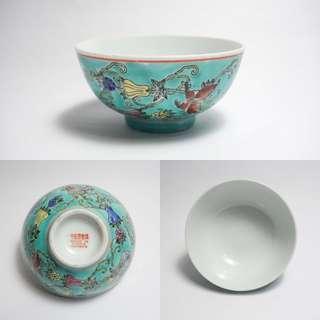 景德镇花碗 JING DE ZHEN mark vintage antique famille rose porcelain bowl