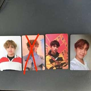 [WTT/WTS] BTS LY Her Photocard (V, Jin, J-Hope)