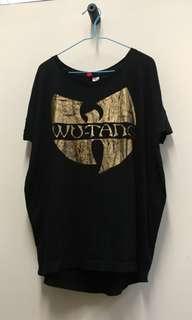 🚚 Black Wutang H&M Top