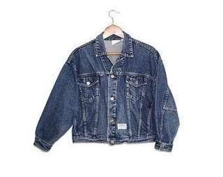 80's Vintage Espirit Dark Blue Denim Jacket