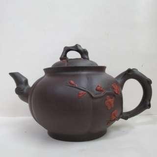 🚚 多孔   中國宜興梅樹茶壺