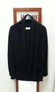 女- 薄棉質外套(黑)