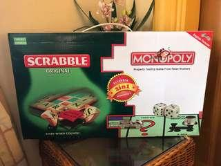 MONOPOLY AND SCRABBLE (2in1)