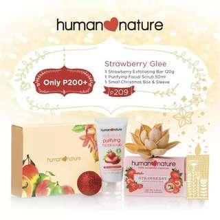 Human Nature Strawberry Glee Gift Set