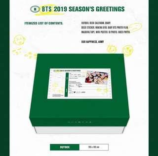 [LOOSE ITEM] BTS 2019 Season's Greeting