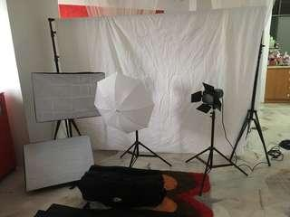 Studio Light and Backdrop Fullset