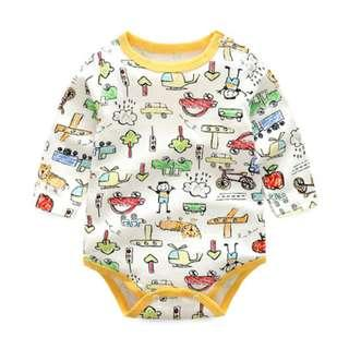 🚚 Long Sleeve Romper with Pencil Sketch Design for Baby/Toddler (NCR 038)