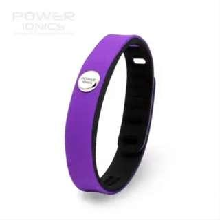 🌻FREE NM🌻 Power Ionics IDEA BAND 3000ions/cc 4IN1 Tourmaline Titanium Germanium F.I.R Sports Bracelet Wristband - Purple