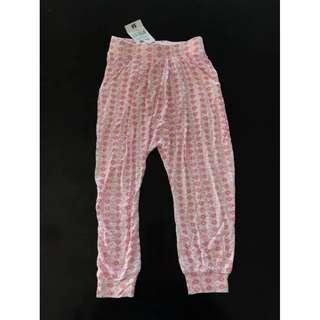 New with tag Size 2 girls floral print soft harem pants buttoms