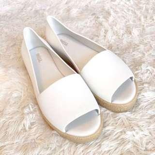 Melissa Puzzle Peeptoe Platform Flats Sandals Size 38