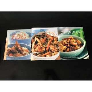 3 Cookbooks Food recipes Chinese Quick & Easy Chicken