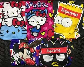 Hello kitty Mickey Simpson Supreme LV tees