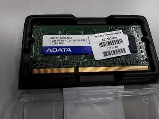 Ram DDR3  PC3-10600 1GB sodimm