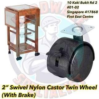 2 Inch Swivel Castor Wheel Top Plated With Brake