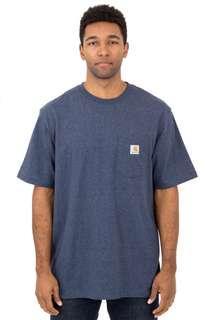 Carhartt Workwear Plain Pocket Tshirt - Cobalt Blue Heather