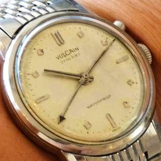 "Swiss Made VULCAIN Cricket mechanical alarm watch (瑞士""窩路展""機械響鬧錶)"
