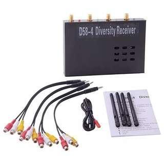 4 in 1 5.8GHz Diversity video audio Receiver D58-4