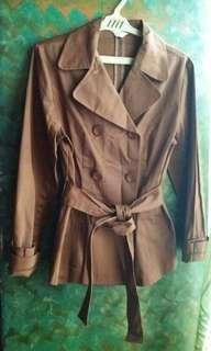 Choco Brown Trench Coat