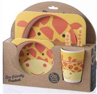 Bamboo kid picnic set