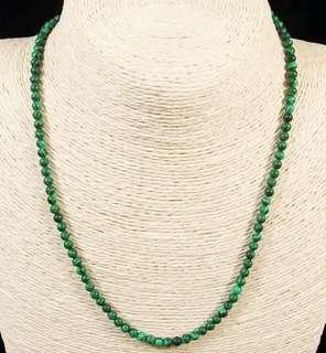 Stone Beaded Necklace Natural Gemstone(Malachite)