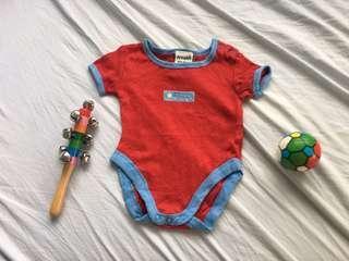 Baby red onesie
