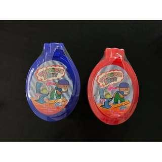 NEW 2 tubs large toilet slime blue and red