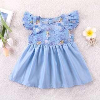 🚚 ⭐️Instock⭐️ Cinderella Flutter Sleeves Dress