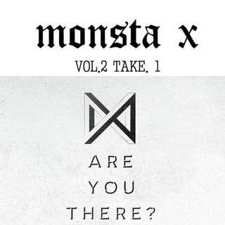 Monsta X - Are you there Album (Poster + Group PC)