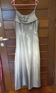 Silver Gradient Long Dress/ Gown