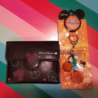Kids Mickey card holder + keyring