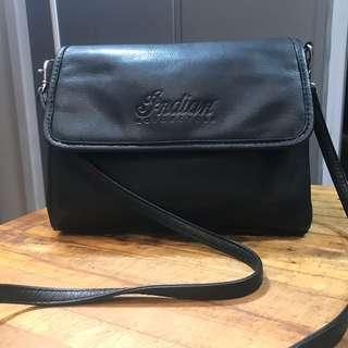 Indian Motorcycle Handbag Black Leather VTG 1990s