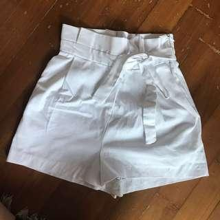 Zara paperbag shorts