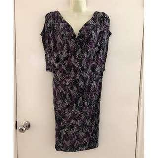 Size Eur S fits AU ladies size 8  Euc MNG Collection drape plunge front dress