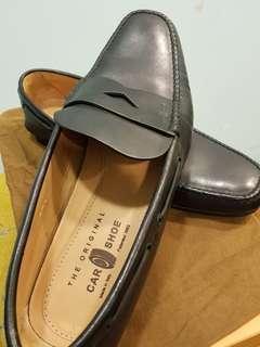 Car Shoe Italy Leather Black